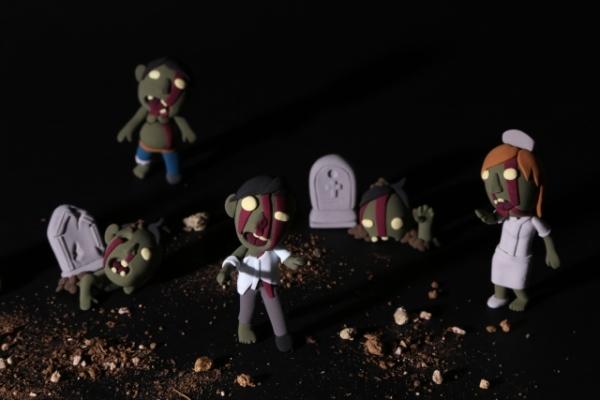 墓から出てくるゾンビのイラスト