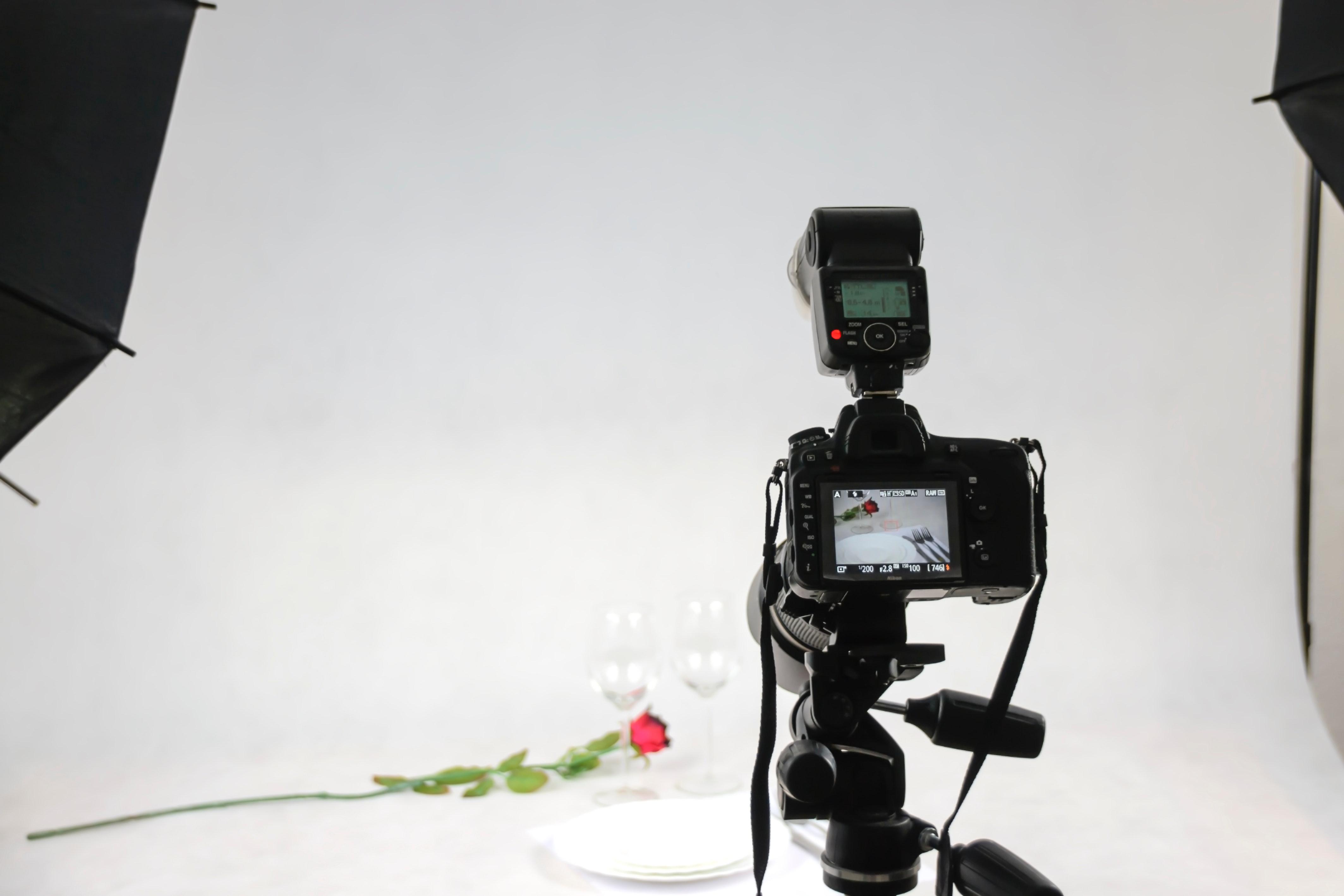 写真館の撮影スタジオ